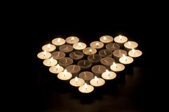 Candle love heart Stock Images