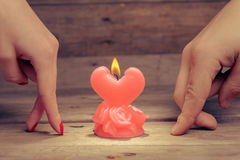 Candle of love Royalty Free Stock Photo