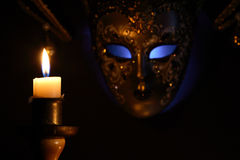 Candle And Mask Royalty Free Stock Images