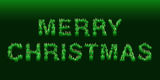 Candle Merry Christmas sign Royalty Free Stock Images