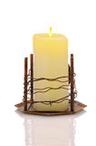 Candle in Metal Holder Royalty Free Stock Photos