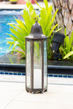 Candle metal lantern Stock Photo