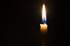 Candle. Candle at night in the drak Royalty Free Stock Image