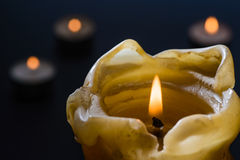Candle, night, mystery Royalty Free Stock Photos