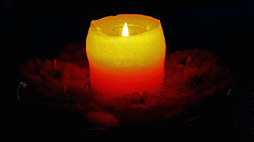Candle in the night Royalty Free Stock Images
