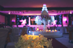 Candle in the night wedding party Royalty Free Stock Photography