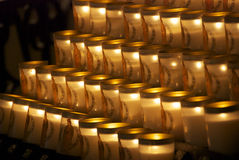 Candle at Notre Dame Royalty Free Stock Photography