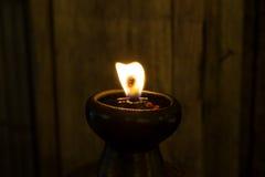 Candle o incêndio Imagem de Stock Royalty Free