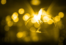 Candle, oil Royalty Free Stock Photo