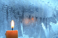 Candle On The Window Royalty Free Stock Image