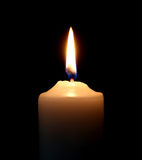 Candle on over dark background. Beatiful  white candle on over dark background Stock Images