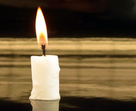 Candle. Picture of burning candles on black background Stock Image