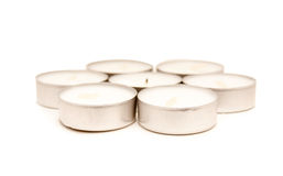 Candle pills. Isolated on white Stock Photography
