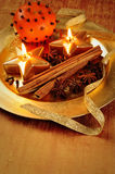 Candle plate stock photography