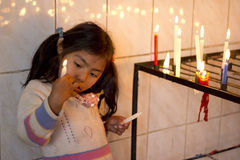 Candle play Royalty Free Stock Photos