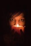Candle Portrait Stock Image