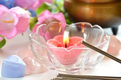Candle for praying Royalty Free Stock Image