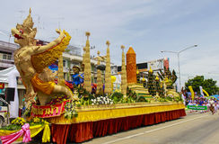 The Candle Procession of Suphanburi Stock Photo