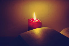 Candle Reading Royalty Free Stock Photos