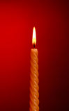 Candle On Red Royalty Free Stock Photos