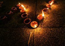 Candle right, myanmar Stock Photo