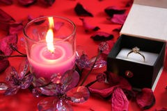 Candle with Ring Stock Photography