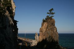 Candle Rock. South Korea, a popular land mark Stock Photo