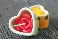 Candle Rose Shape Stock Images