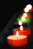 Candle row Stock Photo
