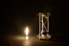 Candle and sand Royalty Free Stock Photography