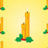 Candle seamless pattern Royalty Free Stock Photo