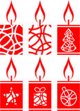 Candle set 01. Vector.Candle set in color 01 Royalty Free Stock Photo