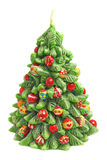 Candle in shape of christmas tree Stock Photo