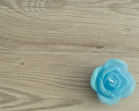 Candle in the shape of a rose Royalty Free Stock Image