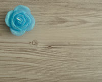 Candle in the shape of a rose Royalty Free Stock Photography