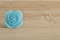 Candle in the shape of a rose Royalty Free Stock Photos