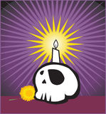 Candle and skull graphic  Royalty Free Stock Images