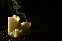 Candle Smoke Royalty Free Stock Photos