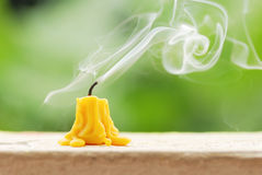 Candle smoke Royalty Free Stock Images
