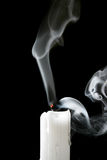 Candle and smoke Stock Photo