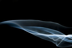 Candle smoke odor Stock Photo