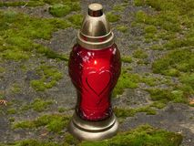 Candle Snitch Red Love All Souls` Day Stock Image