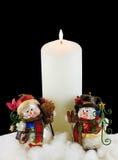 candle snowmen white Стоковые Фото