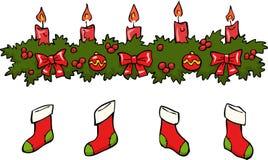 Candle socks Stock Photo
