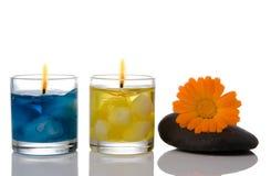 candle spa πέτρα Στοκ φωτογραφίες με δικαίωμα ελεύθερης χρήσης