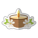 Candle spa aroma therapy Royalty Free Stock Images