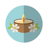 Candle spa aroma therapy Stock Image