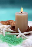 Candle and spa item Royalty Free Stock Photo
