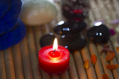 Candle and spa items Stock Photos
