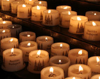 Candle in St. Istvan Basilica, Budapest Stock Photography